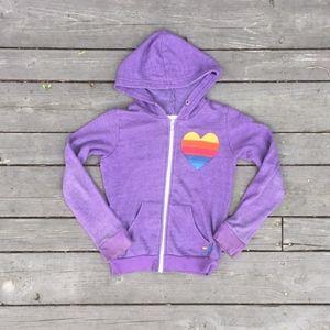 Aviator Nation Kid's Purple Heart Sweatshirt